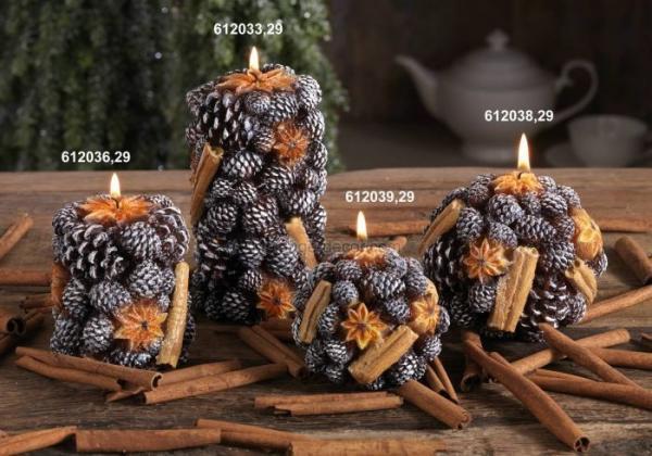 Свечи шишки своими руками